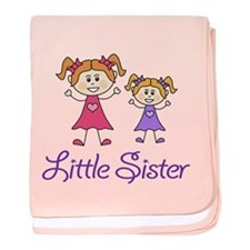 Little Sister with Big sister baby blanket