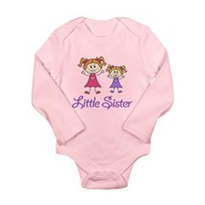 Little Sister with Big sister Long Sleeve Infant B