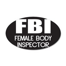 Female Body Inspector Wall Decal