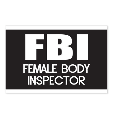 Female Body Inspector Postcards (Package of 8)