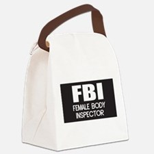Female Body Inspector Canvas Lunch Bag