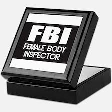 Female Body Inspector Keepsake Box