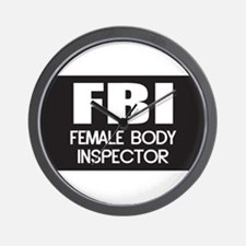 Female Body Inspector Wall Clock