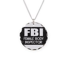 Female Body Inspector - Distressed Texture Necklac
