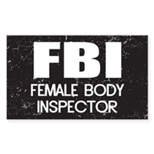 Female Body Inspector - Distressed Texture Decal