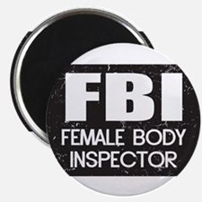 """Female Body Inspector - Distressed Texture 2.25"""" M"""