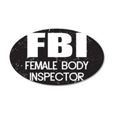 Female Body Inspector - Distressed Texture Wall Decal