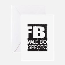 Female Body Inspector - Distressed Texture Greetin