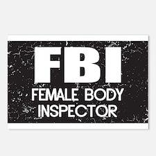 Female Body Inspector - Distressed Texture Postcar