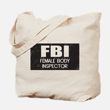 Female Body Inspector - Distressed Texture Tote Ba