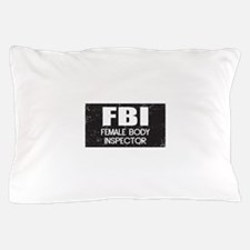 Female Body Inspector - Distressed Texture Pillow