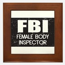 Female Body Inspector - Distressed Texture Framed