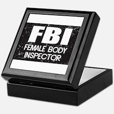 Female Body Inspector - Distressed Texture Keepsak