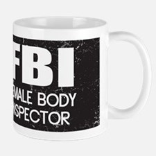 Female Body Inspector - Distressed Texture Mug