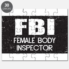 Female Body Inspector - Distressed Texture Puzzle
