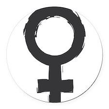 Female Symbol Round Car Magnet
