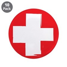 """First Aid 3.5"""" Button (10 pack)"""