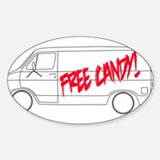 Free Candy! Sticker (Oval)