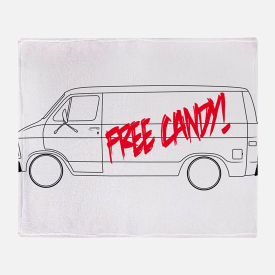 Free Candy! Throw Blanket