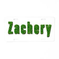 Zachery Grass Aluminum License Plate