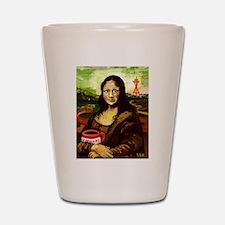 Starbucks Mona Lisa Shot Glass