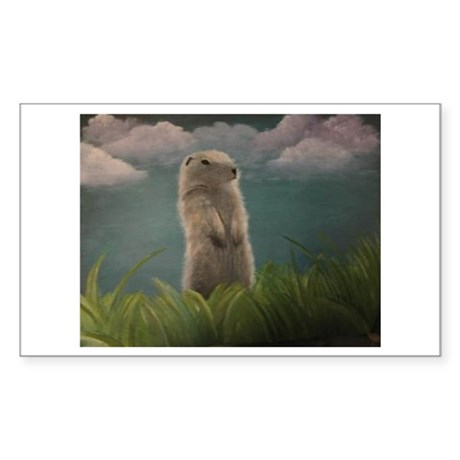 Groundhog Rectangle Sticker