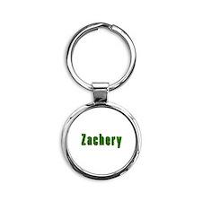 Zachery Grass Round Keychain