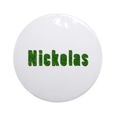 Nickolas Grass Round Ornament