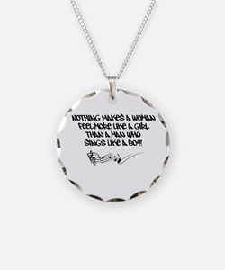 Nothing Makes a Woman Feel Quote Necklace