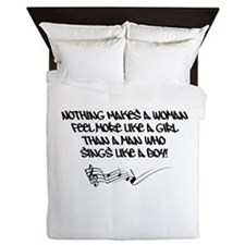 Nothing Makes a Woman Feel Quote Queen Duvet