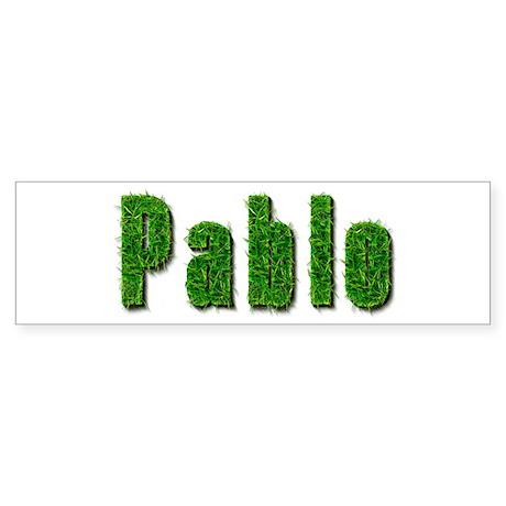 Pablo Grass Bumper Sticker