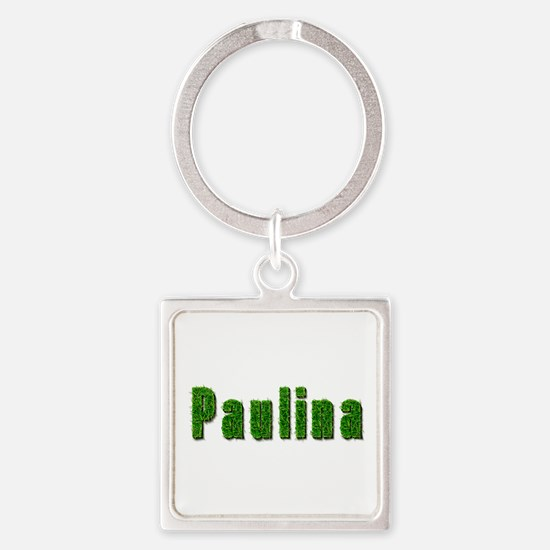 Paulina Grass Square Keychain