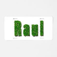 Raul Grass Aluminum License Plate