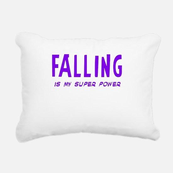 Super Power: Falling Rectangular Canvas Pillow