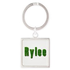 Rylee Grass Square Keychain