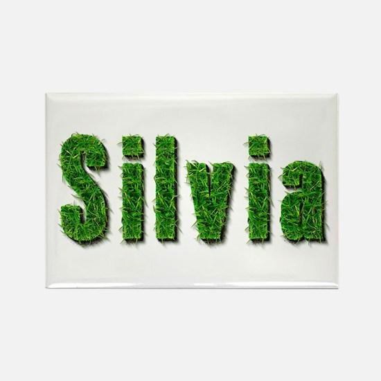 Silvia Grass Rectangle Magnet