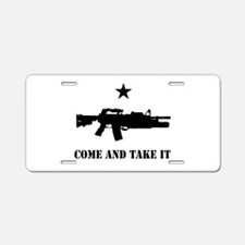 Come and Take It Aluminum License Plate