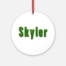 Skyler Grass Round Ornament