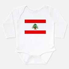 Cute Lebanese flag Long Sleeve Infant Bodysuit