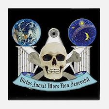 Masonic Virtus Junxit Mors Non Seperabit Tile Coas