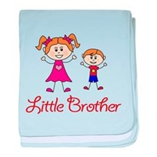Little Brother with Big Sister baby blanket