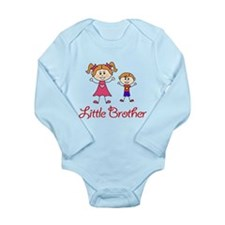 Little Brother with Big Sister Long Sleeve Infant