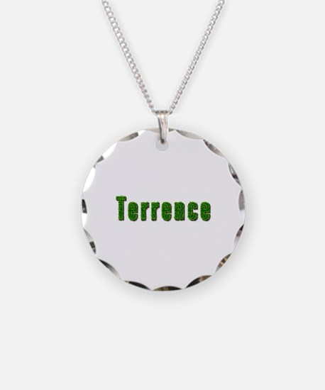 Terrence Grass Necklace Circle Charm