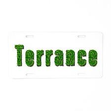 Terrance Grass Aluminum License Plate