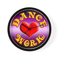 Dance Love Work Wall Clock