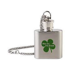 Kiss Me, I'm Drunk Flask Necklace