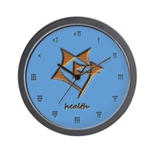 health/blue Wall Clock