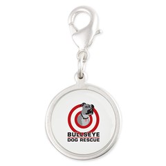 BullsEye Silver Round Charm
