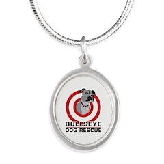 BullsEye Silver Oval Necklace