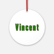 Vincent Grass Round Ornament